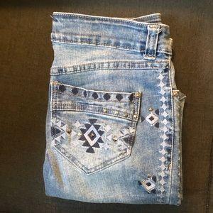 🌻Inc embroided denim jeans sz 4